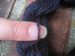 Drop spindle yarn