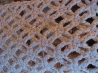 Lace scarf close