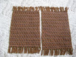 Brown waffle mats