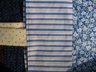Contrasting fabrics