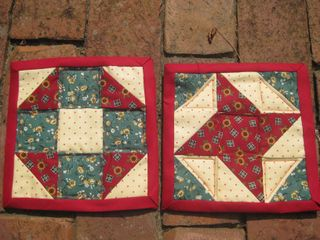 Red yellow green potholders