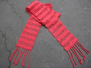Woven red scarf