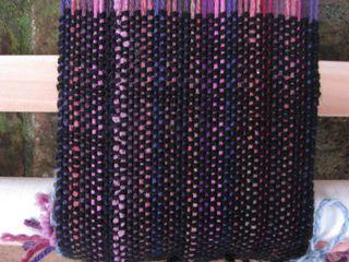 Black scarf weave