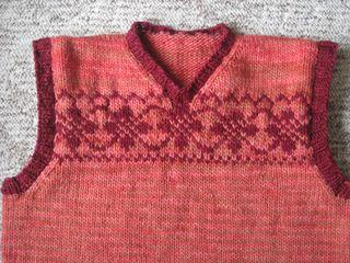 Pink vest yoke