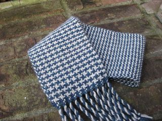 Blue tweed scarf