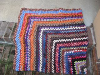 Finished sock yarn blanket