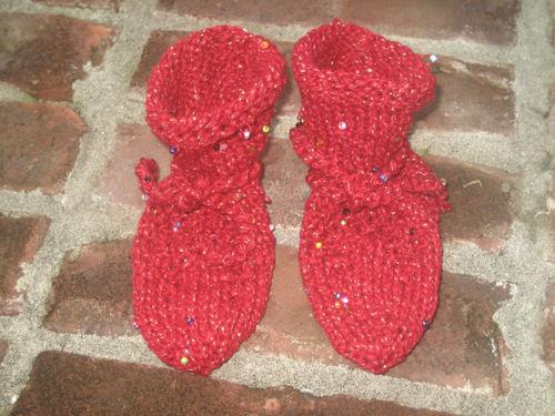 Seeded Heart Socks
