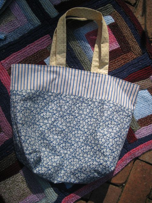 Blue + yellow bag