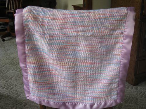 Woven baby blanket